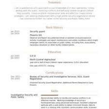 Security Guard Resume Examples Pin By Job Resume On Job Resume Samples 41386638528