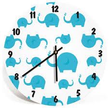 Wall Clock for Kids Room - Boys and Girls Nursery Room - Kids