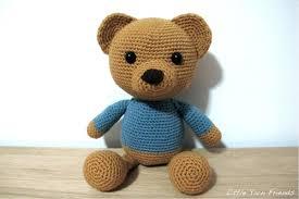 Crochet Teddy Bear Pattern Simple Little Yarn Friends CrochetAlong Pattern Lil' Classic Teddy