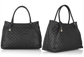 Look 4 Less: DKNY Quilted Leather Tote & Chanel Looking DKNY Quilted Leather Tote Adamdwight.com