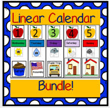 Linear Calendar Cards Worksheets Teaching Resources Tpt