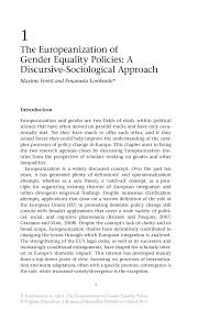 the europeanization of gender equality policies springer the europeanization of gender equality policies the europeanization of gender equality policies