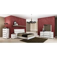 italian furniture bedroom sets. Modern Furniture Italian High Gloss Wooden 6-Piece King Bedroom Set In White Italian Furniture Bedroom Sets O