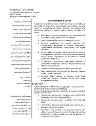 International Biodata Format International Relations Resume Example