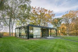 glasshouse new canaan ct connecticut editorial photographer fall foliage modern architecture