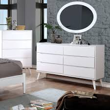 Midcentury modern dressers Small Furniture Of America Corrine 2piece Midcentury Modern Dresser And Oval Mirror Set Overstock Shop Furniture Of America Corrine 2piece Midcentury Modern Dresser