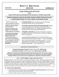 Chief Operating Officer Resumes Coo Resume Sample Page 1 Executive Resume Resume Resume