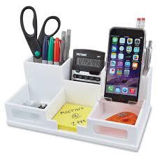 Desk Organizer Victor W9525 Phone Holder Desk Organizer 6 Compartments 35