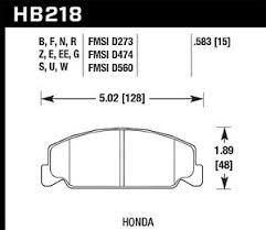 Details About Disc Brake Pad Set Base Front Hawk Perf Hb218n 583