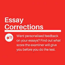 ielts writing task  essay correction service