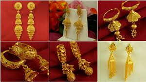 Gold Jhumka Designs For Bridal Latest Gold Jhumka Design2019 Bridal Jhumka Design Gold Earring For Girls Gold Jhumka Earring Design