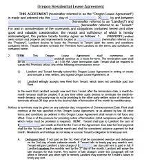 Oregon Rental Agreement Template Free Oregon Commercial Lease ...