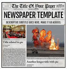 Where Can I Find A Newspaper Template 15 Newspaper Template For Word Sample Paystub