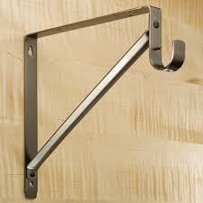oval chrome closet rod hafele wardrobe rails with supports