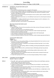 Collections Resume Examples Collection Specialist Resume Samples Velvet Jobs 11