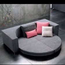 Round couch bed