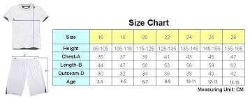 Kids Jersey Size Chart Psg Home Kids Jersey 19 20