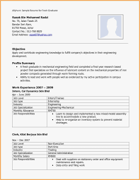 Best Resume Format For Freshers Download Resume Format Mechanical