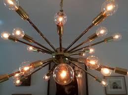 vintage american midcentury brass sputnik chandelier for sale at