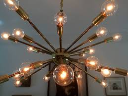 vintage american midcentury brass sputnik chandelier 2