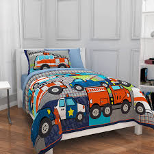 Kids Bedroom Bedding Mainstays Kids Heroes At Work Bed In A Bag Bedding Set Walmartcom