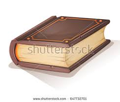 cartoon old book ilration of a cartoon old big book or ancient magician grimoire