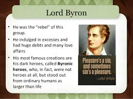 r tic poetry intro characteristics of the byronic hero please