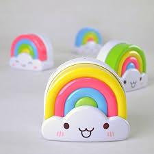 PDXD Kids Baby Mini Rainbow Night Light ...