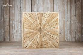 large wooden wall art panel
