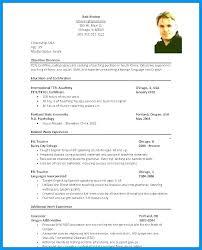 Cv English Template Template Cv English Format Free