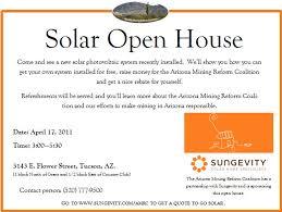 Invitation To Open House Solar Open House Invite Arizona Mining Reform Coalition