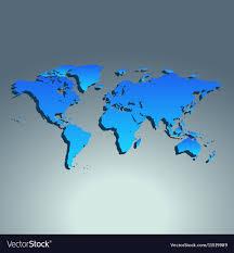 World Map Flat Design World Map Blue Color Flat Design