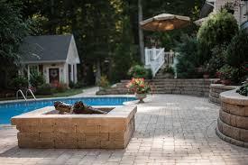 patio with square pool. Patio With Square Pool Excellent On Home Inside Dublin EagleBay USA Pavers 10 O