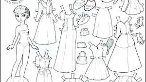 Paper Dolls Coloring Pages Camelliacottageinfo