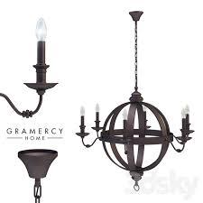 meval metal orb chandelier gramercy home