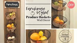 produce storage wall decor diy kitchen decor farmhouse style budget friendly decor