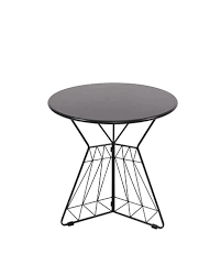 table cafe round iron black 60cm
