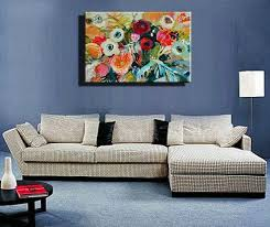 paintings for living room wallWall art ideas for living room with oil painting abstract  Home