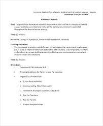 Sample Of Agenda Free 7 School Agenda Examples Samples In Pdf Examples