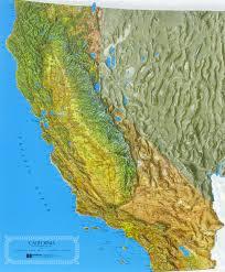 raised relief maps of california