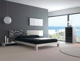bedroom furniture black and white. house design idea of bedroom with black and white bed grey walls furniture interior about