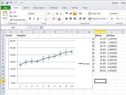 how to create graphs in excel how to create a standard deviation graph in excel techwalla com