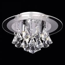 endon renner crystal range flush ceiling light small