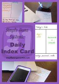 Make Index Cards Simple Systems Daily Index Card Index Cards Card