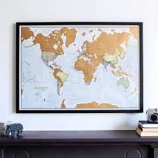 Scratch The World ® Framed  Notonthehighstreet.com a
