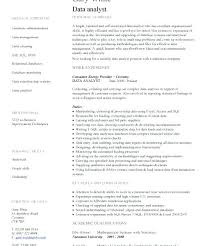 Sample Data Analyst Resume Data Analyst Sample Experience Of Data ...