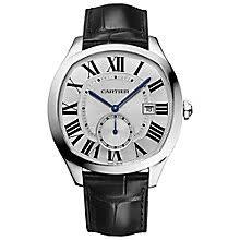 cartier watches ernest jones cartier drive men s stainless steel strap watch product number 4678907