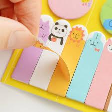 Cute Animals Design Memo Pad Paper Schedule Marker Weekly Plan Post