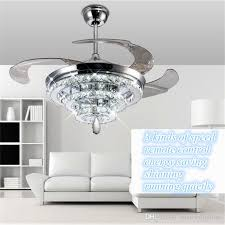 led crystal chandelier fan lights invisible for ceiling plans 4