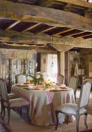french country dining french country french country. French Country Kitchen Dining Room Ideas With Wooden Roof And Armless Chairs